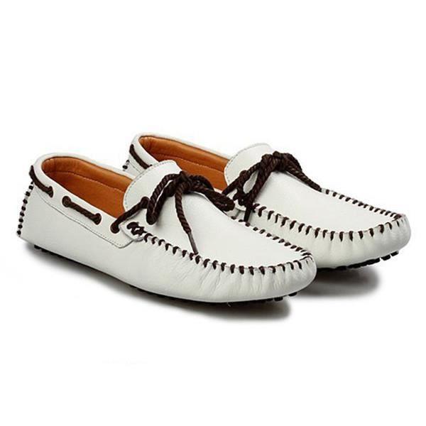 AEQUEEN Mocassins Homme PU Cuir Décontracté Chaussures De Ville Mode IOLcv