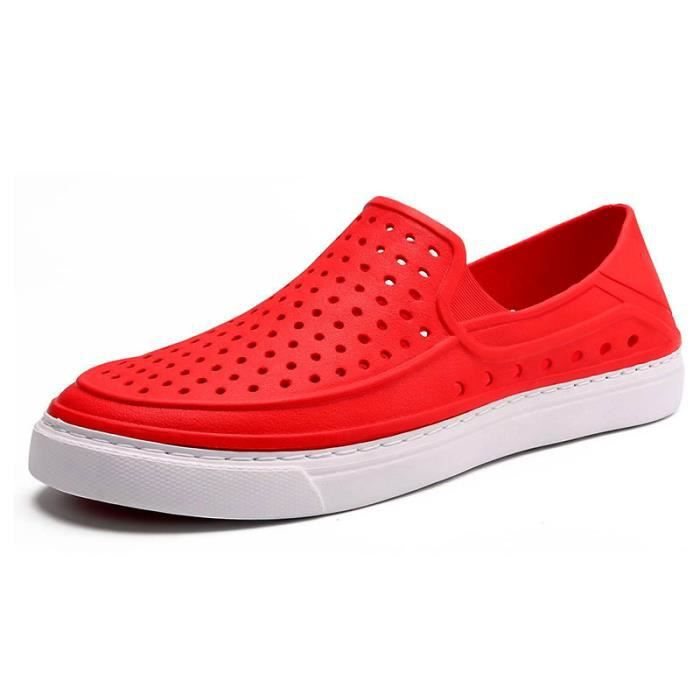 Sandales Homme Été - Classique Chaussures Maille Respirant Super Léger Sandales WYS-XZ259Rouge40 WMP9PGQ