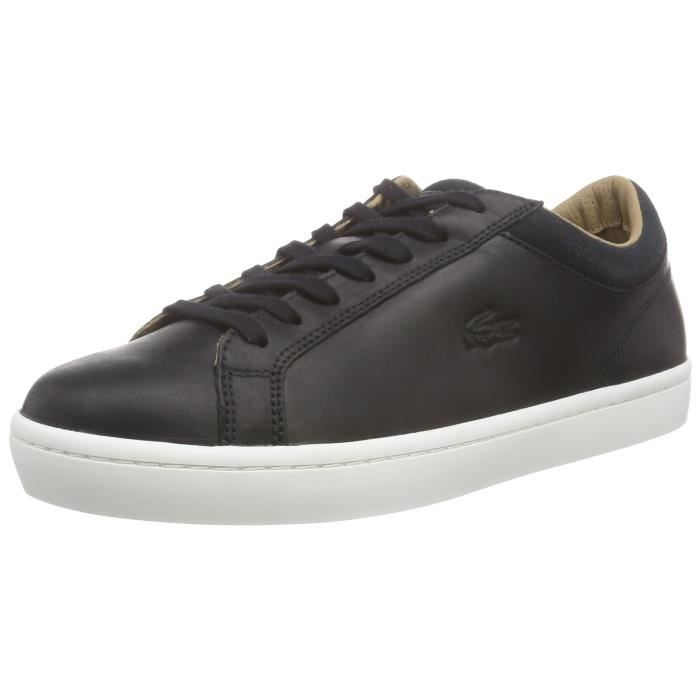 c073fa611a Lacoste Straightset Crf bas Baskets 3HPV2I Taille-44 Noir Noir ...