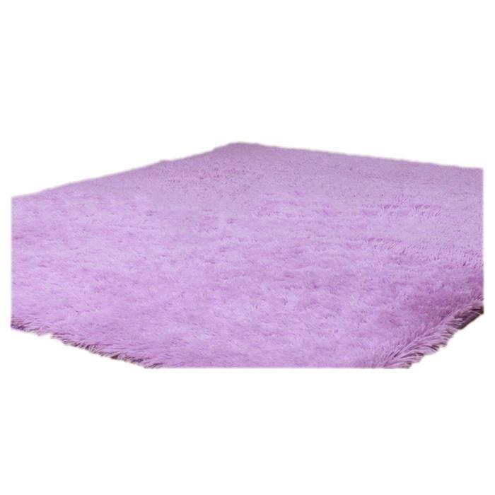 Tapis pour la Maison le Salon la Chambre Tapis de Peluches violet clair 50  x 80cm