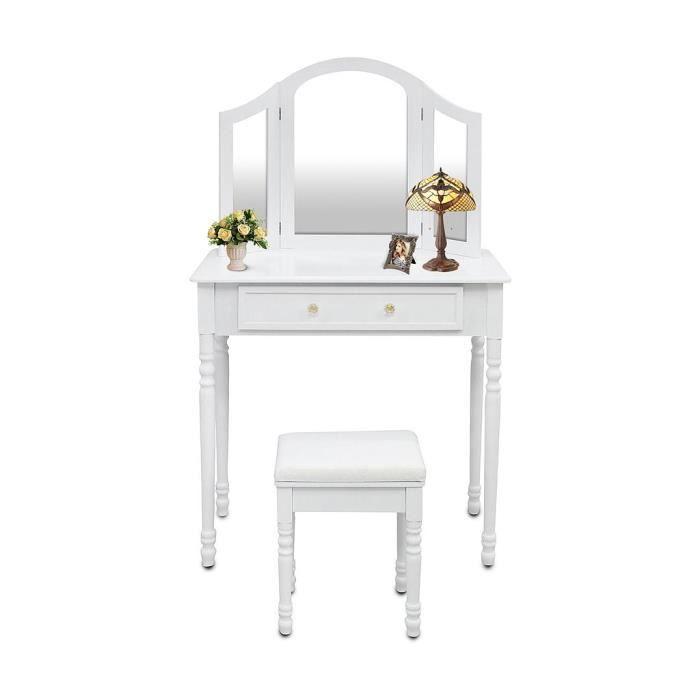COIFFEUSE Table de Maquillage, Coiffeuse, Un grand tiroir, 3