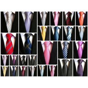 0221351f0937d ... CRAVATE - NŒUD PAPILLON Cravate Homme pour Mariage Travail Élégant  Simple ...