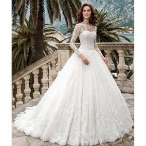 6720002dc38 ... ROBE DE MARIÉE OFELI® Manches Longues Robes De Mariée Princesse L ...