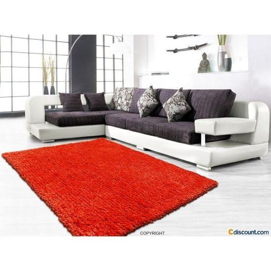 64e56f0bde3 Tapis Cotton Shaggy MANDARINE 200 280 cm - Achat   Vente tapis 100 %  acrylique - Soldes  dès le 9 janvier ! Cdiscount