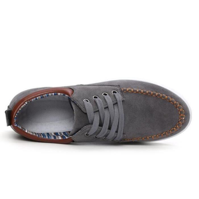 Mode Hommes Mocassins Noir - Blanc - Bleu Chaussures en cuir Man Casual Loisirs Hommes Flats,noir,44,4861_4861
