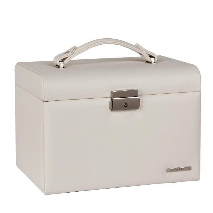 Boîte à bijoux Blanc Coffret à bijoux et beauty case 24*17*16.5cm