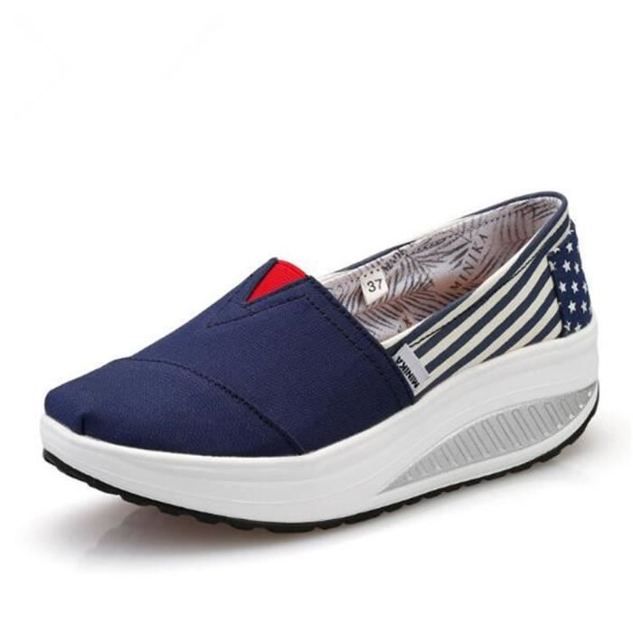 Loafer femmes Qualité Supérieure marque de luxe chaussure Grande Taille Respirant Loafers femme Cuir Sneaker casual chaussures 40 MMWjZlQWho