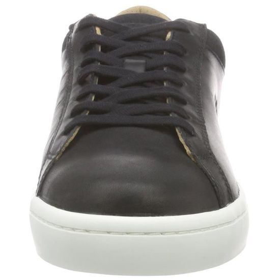 810438b7a1 Lacoste Straightset Crf bas Baskets 3HPV2I Taille-44 Noir Noir - Achat /  Vente basket - Cdiscount