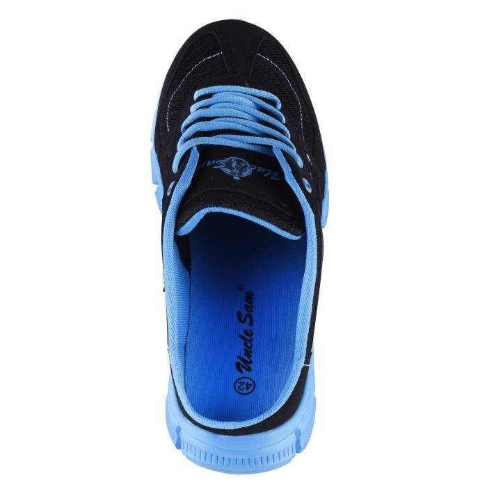 Uncle Sam Sabots de sport pour homme en Noir/Bleu