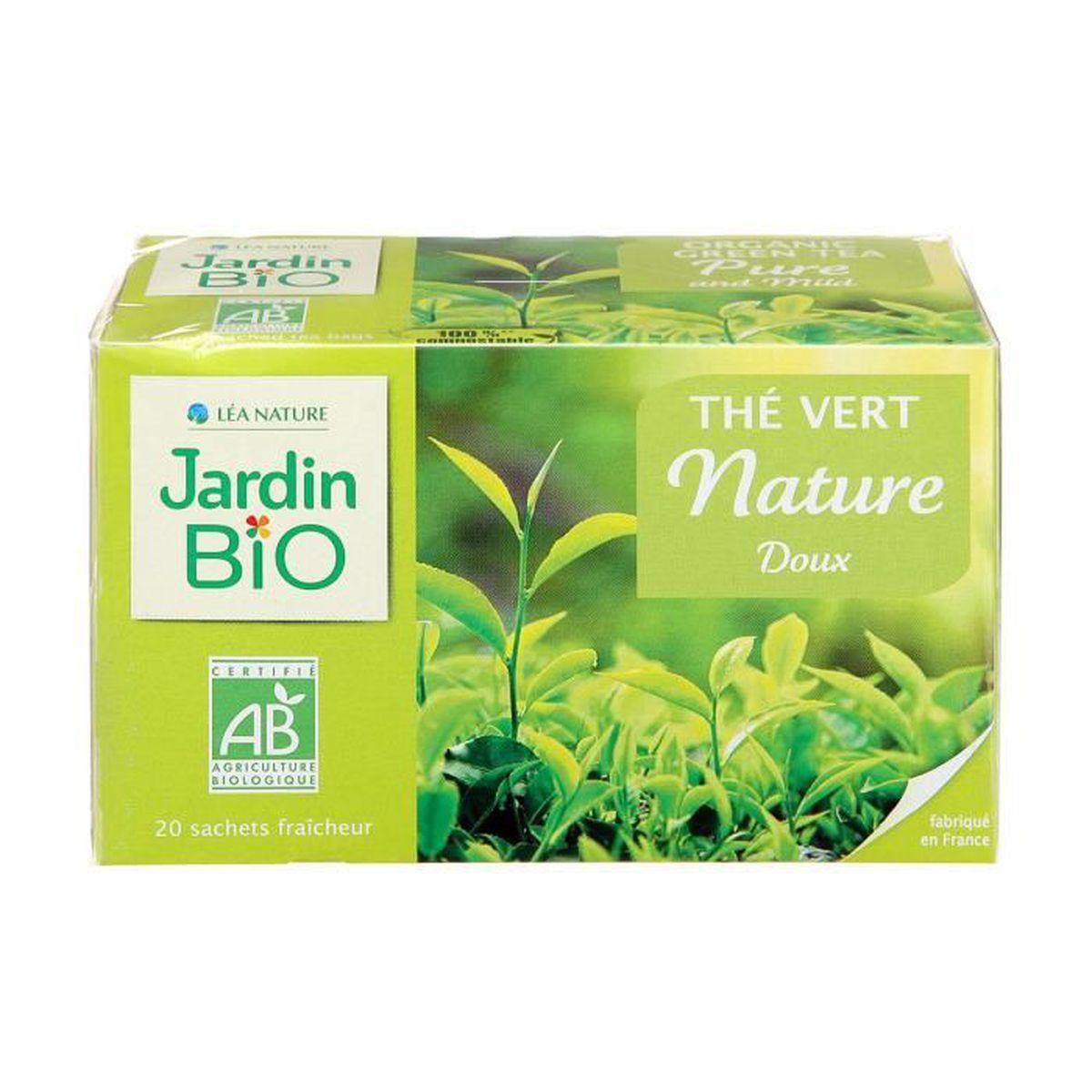 THÉ JARDIN BIO Thé vert doux bio - 40 g