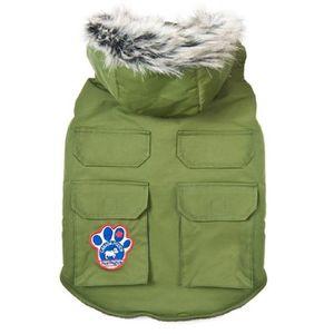 CANADA POOCH Veste Explorateur T14 - Vert - Pour chien 5-8kg