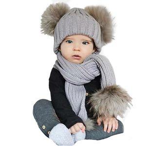 BONNET - CAGOULE Bébé enfants mignon hiver garder chaud mignon éch 0855b9cbdf8