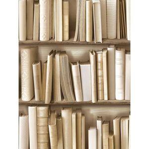 papier peint bibliotheques achat vente papier peint bibliotheques pas cher cdiscount. Black Bedroom Furniture Sets. Home Design Ideas