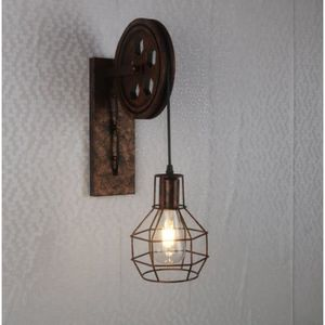 APPLIQUE  UNI E27 Rétro Vintage Lampe Murale Métal Luminaire
