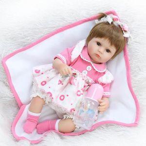 POUPÉE 40 cm Silicone Reborn Bébé Poupée enfants Playmate