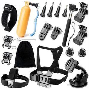 PACK CAMERA SPORT BW 19En1 Accessoires Kit Pour Caméras Gopro Hero 4