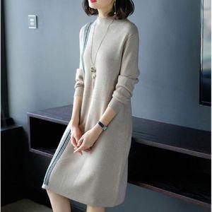 4c241e360dc2 ROBE Femme Mode O Neck Robe en maille de Laine Couture ...