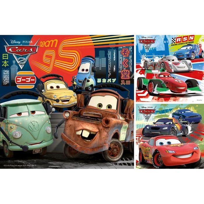CARS Puzzle Course Autour Du Monde 3x49 pcs - Disney