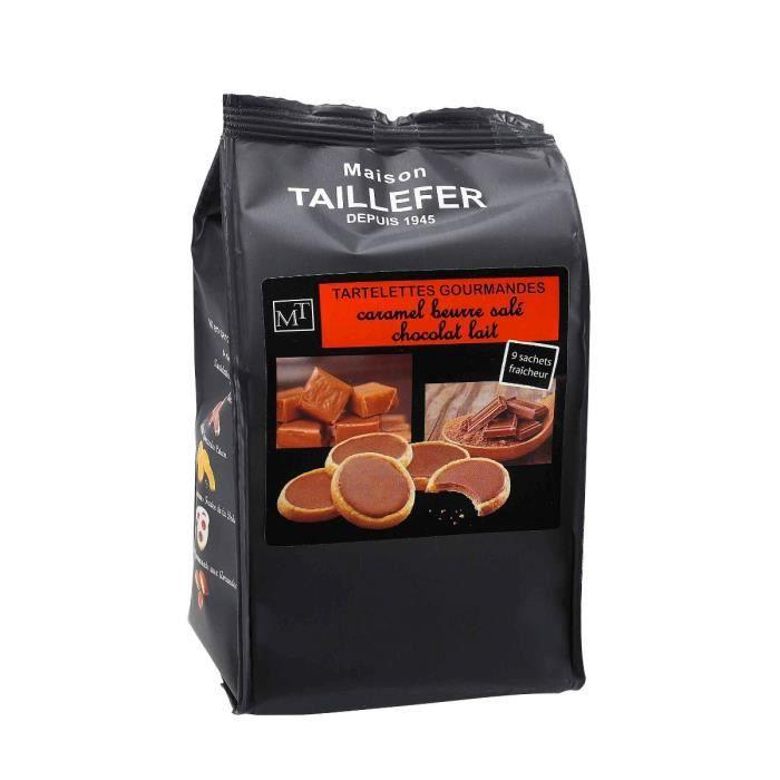 MAISON TAILLEFER Tartelettes Gourmandes Caramel beurre salé - Chocolat Lait Sachet de 9 -125g