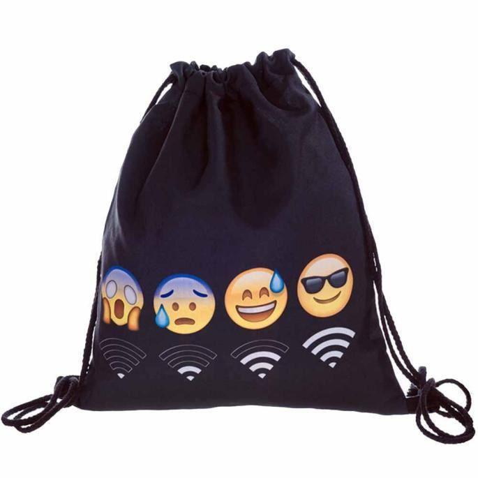 Sac Homme Étudiants Garçons Student École Rucksack Schoolbagmode Femme A Sport Dos Emoji Unisexe Backpack Filles Impression College rFB8rRnx