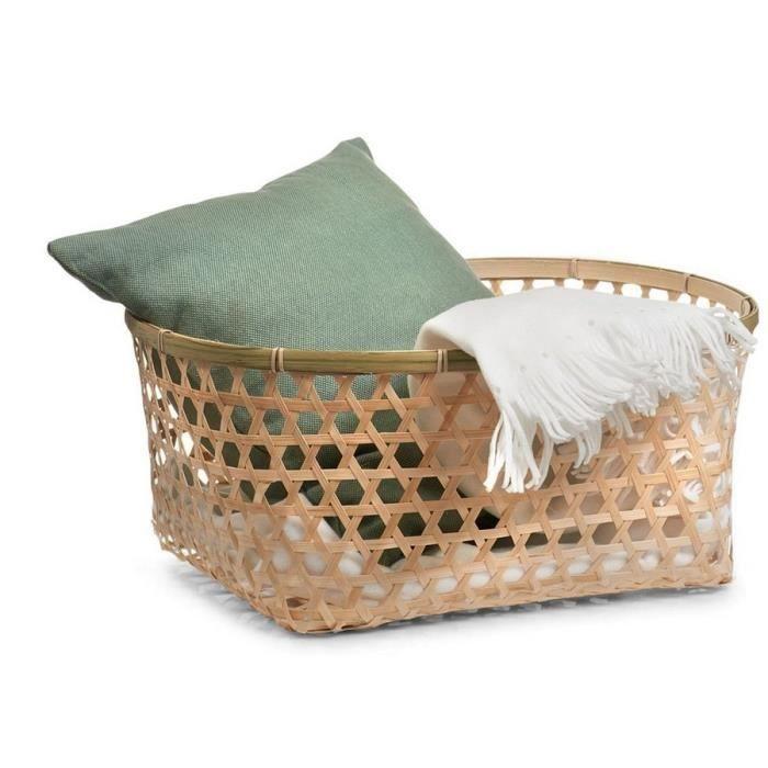 panier de rangement en bois de bambou tress oval zeller achat vente boite de rangement. Black Bedroom Furniture Sets. Home Design Ideas