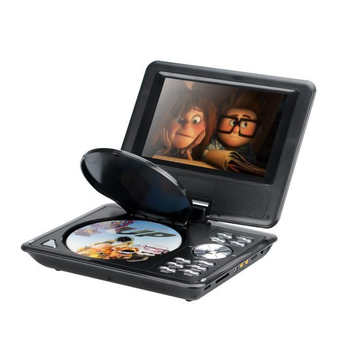 lecteur dvd portatif pour enfant de 7 pouces ecran couleur tft cran large ebook radio fm. Black Bedroom Furniture Sets. Home Design Ideas