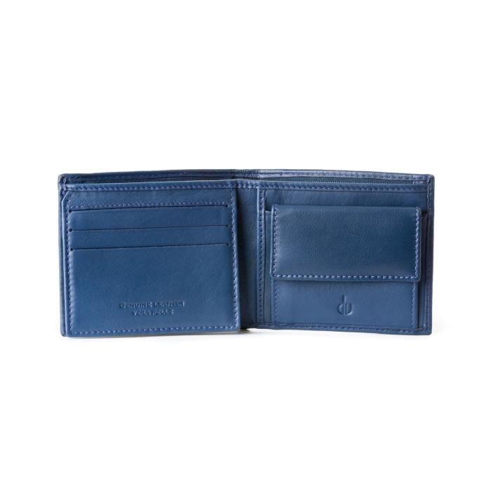 826e49714a8 Petit portefeuille homme en cuir avec porte-monnaie et compartiment secret  avec fermeture éclair.