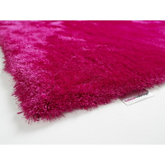 Tapis Shaggy Colour Courage Rasperry Rose Achat Vente Tapis