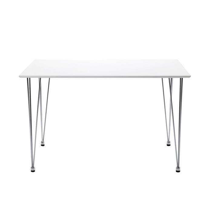 Table manger avec rallonge blanc laqu kyoto achat - Table laque blanc avec rallonge ...