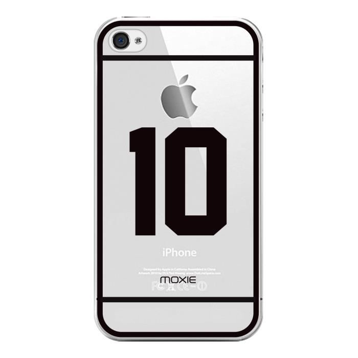 COQUE - BUMPER Coque Moxie Crystal NUMBERS n 10 pour iPhone 4/4S