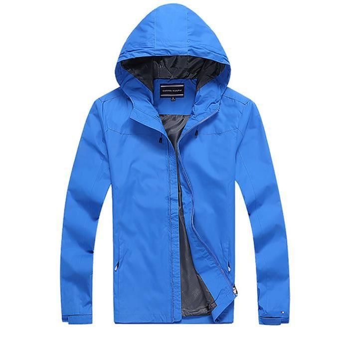k way coupe vent homme veste de plein air homme blouson en sans ouatin capuche homme bleu xl. Black Bedroom Furniture Sets. Home Design Ideas