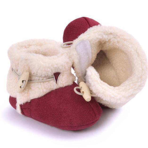 Bébé garder chaud semelle molle bottes de neige Soft berceau chaussures tout-petits rouge