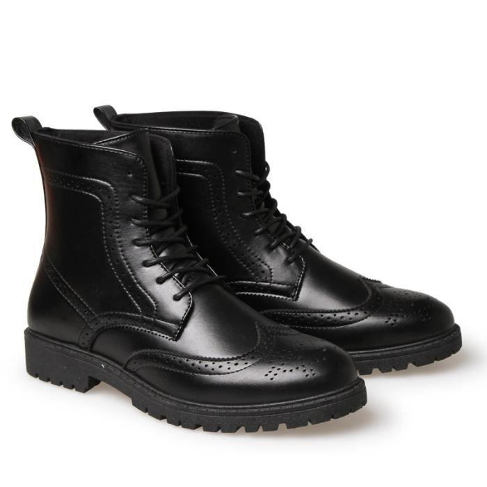 Botte Homme Tendance en cuir Matin noir taille43