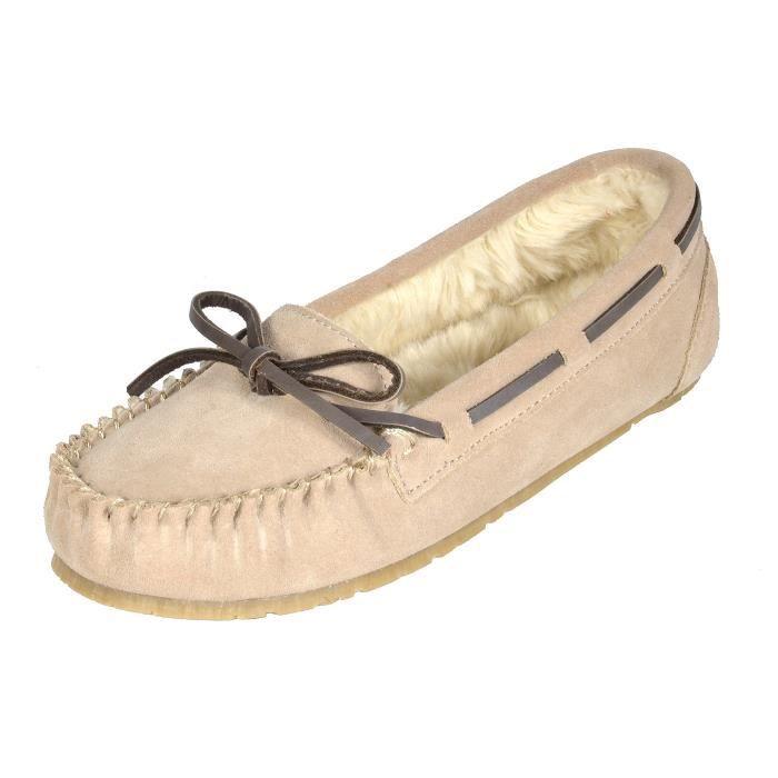 Shozie fausse fourrure Pantoufles Mocassins Flats Chaussures OPPWJ Taille-42