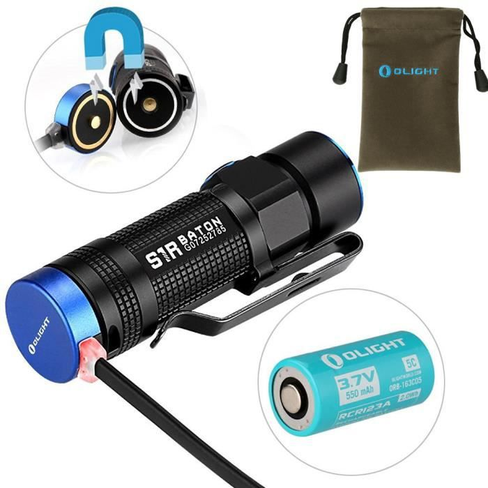 Blanc 5c Torche Led Neutre 5 D'eclairagePile Rcr123a Lampe Olight® Cree S1r Lumens 900 lumière Modes 550mah Rechargeable tsQrdhC