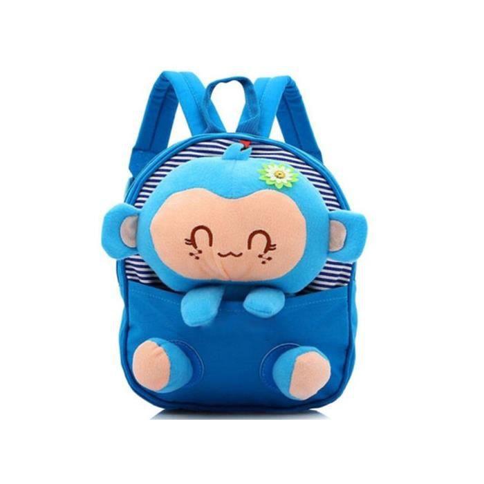 Enfants sacs d'école sac à dos maternelle filles garçons gosse dos jouets de singe mignon de bande dessinée