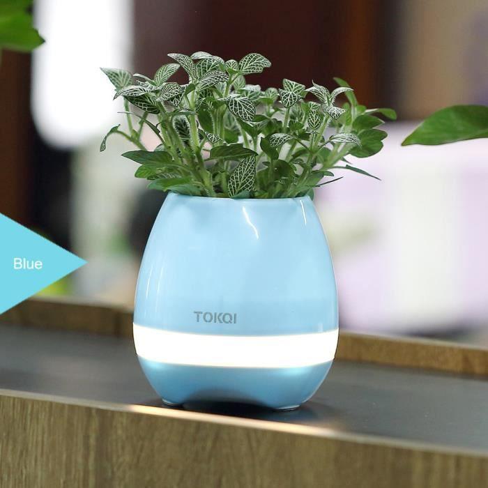 Cadeau Touch Colorée Lampe Pour Fil Musique Bleu Bt Pot Fleurs Rechargeable Haut Salle D'étude Smart Parleur Sans De Bureau Led rCoexdB