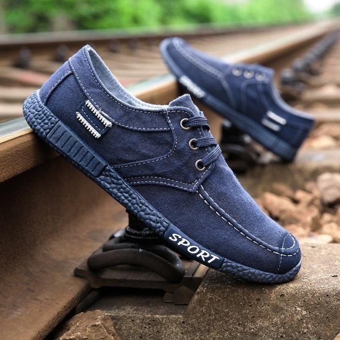 Skateshoes Homme Tendance cool Denim épais Sole Skater hommes bleu foncé taille43 XY6pHz