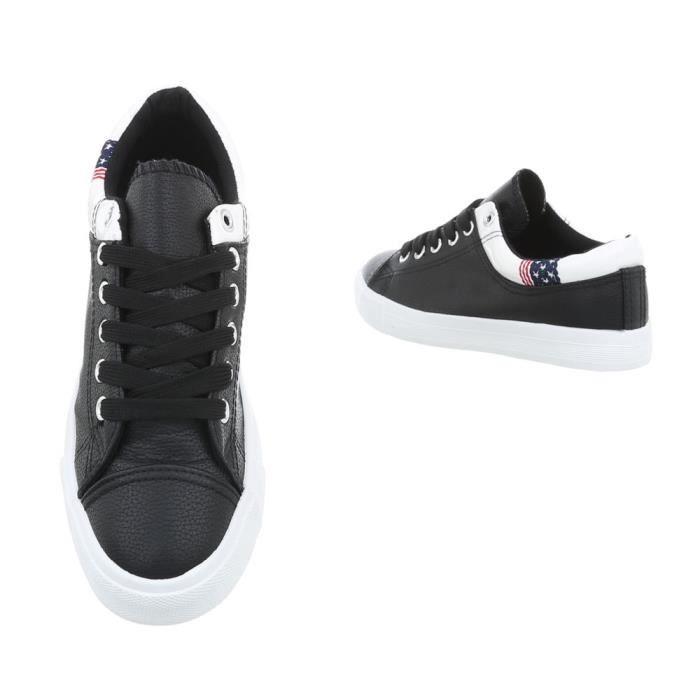 noir 36 Baskets Des Noir Bleu Foncé Sneakers Chaussures Femme nqP817xw5H