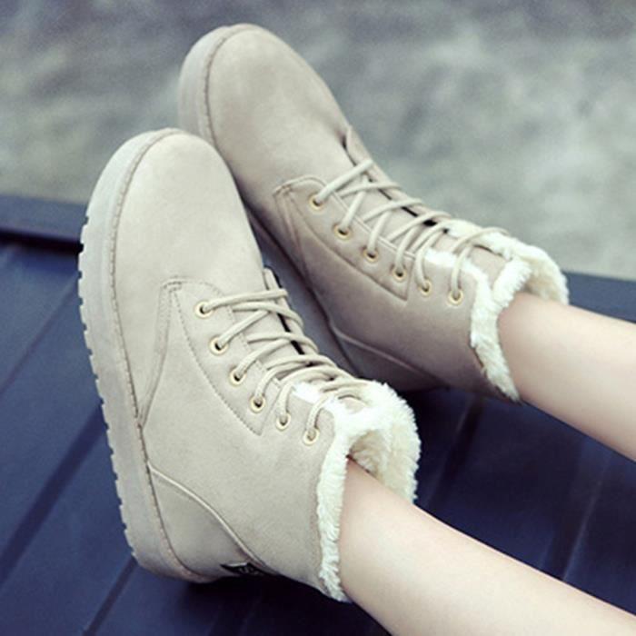XZ497C4XZ497C4Femmes Flats chaud Chaussures femmes Bottes de neige Automne Hiver Chaussures Mode