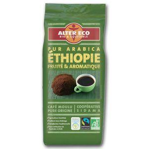 CAFÉ - CHICORÉE ALTER ECO CAFE moulu MOKA ETHIOPIE 250g