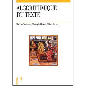 AUTRES LIVRES Algorithme du texte