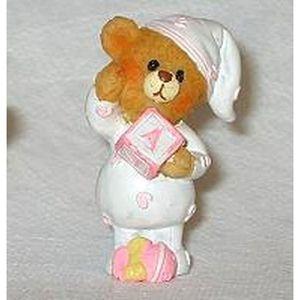 Figurine décor gâteau Figurine ourson baptême fille