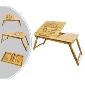 BUREAU  Table Portable pour Ordinateur, Plateau de Lit Pli