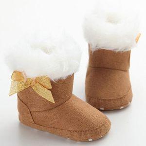 Bébés filles douce Sole Crib appartements Bouton chaud coton boot 13CM n5g7Nf9V1L