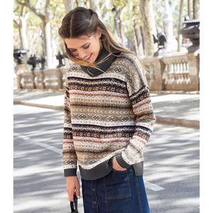PULL Pull brillant col roulé manches longues femme