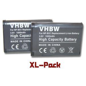 BATTERIE APPAREIL PHOTO 2 batteries de rechange pour Sony Cybershot DSC-RX