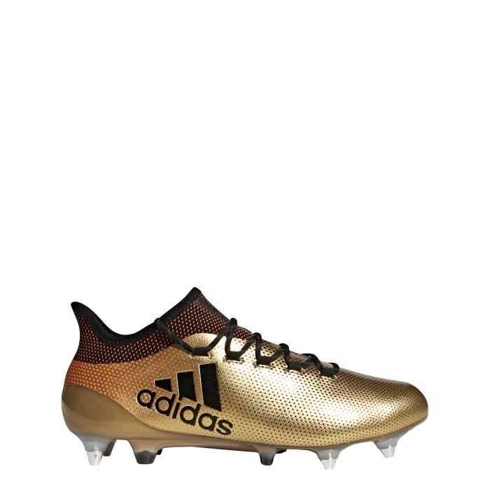 Chaussures de football adidas X 18.1 SG grisnoirrouge solaire 42