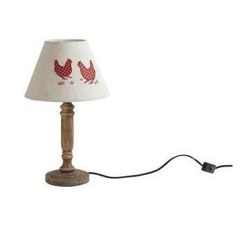 Decoration motif poule achat vente decoration motif for Lampe de chevet en bois flotte pas cher