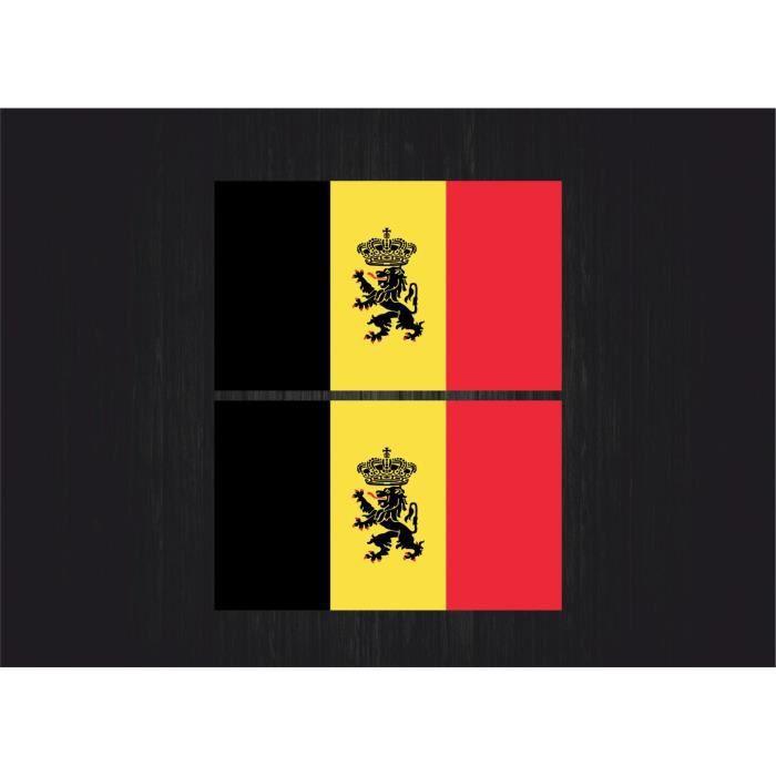 2x sticker autocollant naval drapeau belgique r2